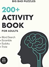 200+ Activity Book for Adults: Puzzles, Word Games & Trivia to Develop a Healthy Mind