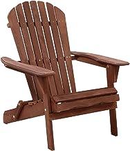 Gardeon Outdoor Sun Lounge Wooden Garden Chair Folding Adirondack Chair Patio Beach-Brown