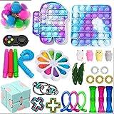 Paquete de juguetes sensoriales con burbuja de empuje pop, juguetes fidget Set Figetgets-Toys Pack Alivia el estrés ansiedad para niños adultos (juguete fidget B)