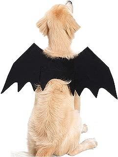 MOCUER Pet Dog Cat Halloween Costume Accessories Animal Bat Wings Supply Dress Up Black