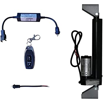Amazon.com: WindyNation 12 Volt, 225 lbs Linear Actuator + Wireless Remote  Control DPDT Switch + Actuator Mounting Brackets: Home Audio & TheaterAmazon.com