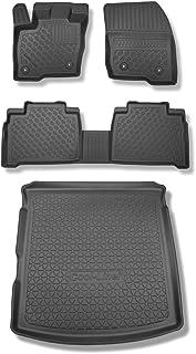 Mossa Set TPE Fußmatten und Kofferraummatte   100% passgenau   schwarz   5902538864374