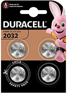 Duracell Specialty 2032 Lithium Coin 3V, 4 Pack (CR2032/DL2032)