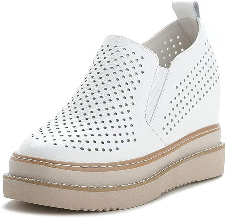 CYBLING Kvinnors Plattform Slip Slip Slip on Loafers Comfort läder Mockasines Dold Heel Wedge Sneeaker Skor  Beställ nu med stor rabatt och gratis leverans