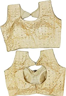 Cream Blouse Saree Party Wear Blouse Saree Designer Indian Style Padded Blouse for Saree Crop Top Choli 586