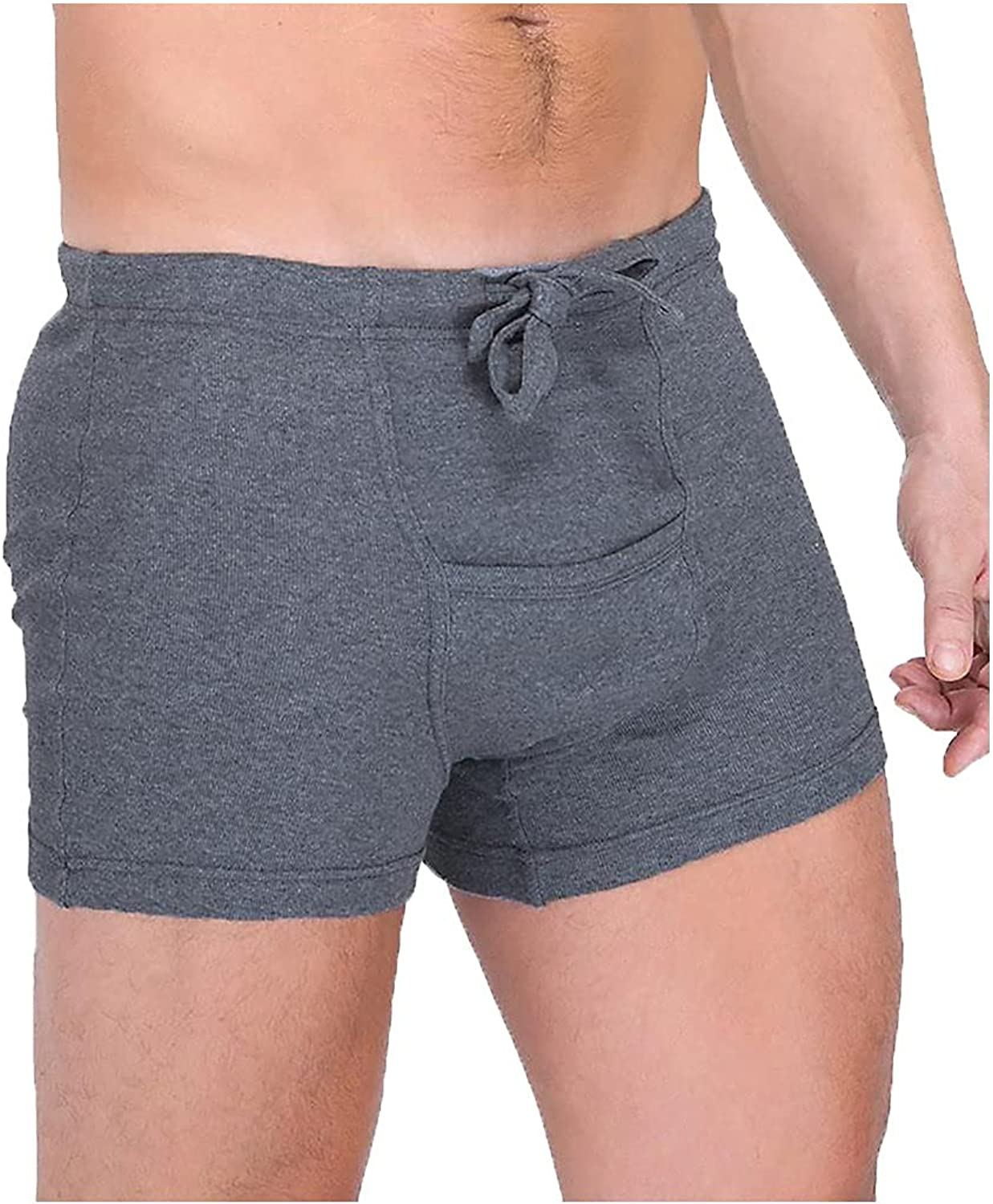 Cottonique Men's Hypoallergenic Ribbed Drawstring gift Boxer wi Over item handling ☆ Brief