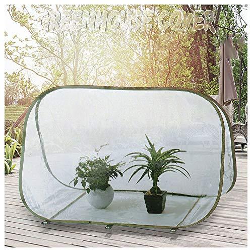 Pop Up Greenhouse, 90 x 52 x 62 cm Pequeño invernaderos de plástico para el jardín, el suelo de pie, transpirable, fuerte y resistente a la corrosión, la cubierta vegetal Grow Refugio Flower Tent