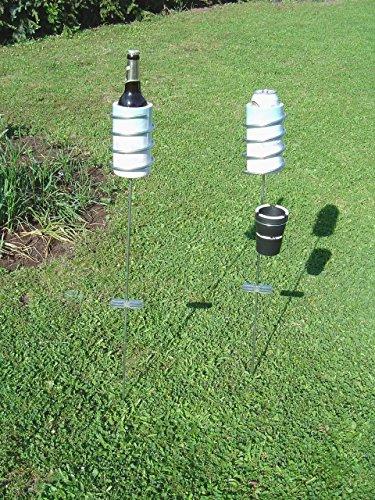 Flaschenhalter Belykühltgluck Bier Flaschenkühler Dosen Camping Garten Party Edelstahl verzinkt