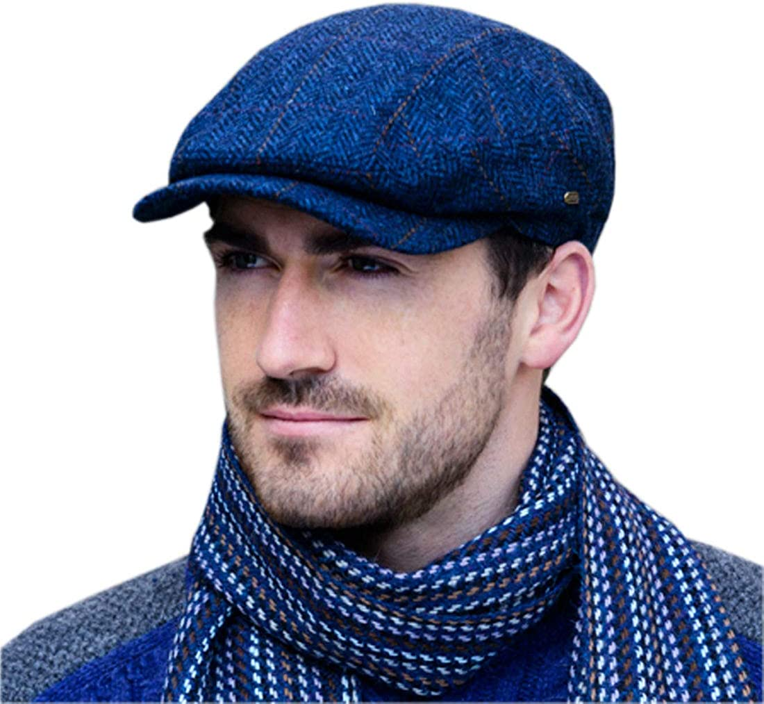 Irish Tweed Wool Kerry Cap for Hat Men Made in Free shipping / New Ireland Safety and trust