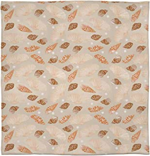 YOLIYANA Warm Flannel Blanket,Pearls Decoration,for Folding Bed Crib, Stroller, Travel, Couch and Bed,Size Throw/Twin/Queen/King,Pattern with Pearls Seashells an Oysters Natural