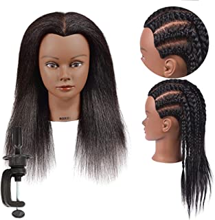 Mannequin Head 100% Real Hair Styling Training Head Hairdresser Cosmetology Mannequin..