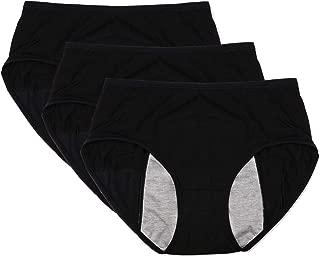 Women Menstrual Period Protective Panties Leakproof Brief Postpartum Bleeding Underwear(Pack of 3)
