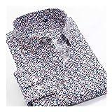 KAKAYO Camisa de Vestir de Negocios de Gran tamaño 8XL 9XL 10XL impresión Floral de Manga Larga de los Hombres de (Color : 226083, Size : 6XL 46)