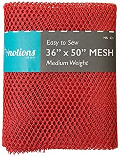 Nifty Notions Medium Weight Mesh 36-inches-by-50-inches, Red