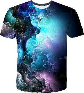 fe72e54221707 EOWJEED Unisexe Casual 3D Pattern imprimé à Manches Courtes T-Shirts Top  Tees