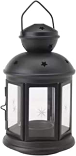comprar comparacion Farol para velas de color negro, apto para uso en interiores y al aire libre, de la marca Ikea Rotera