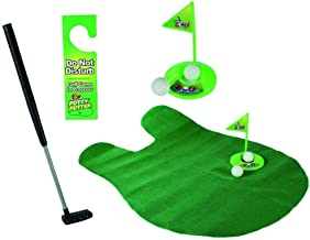 DSA Trade Shop Novelty Bathroom Toilet Mini Golf Game Potty Putter Putting Gift Toy Trainer Set
