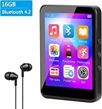$49 » MP3 Player, Aomago 16GB MP3 Player with Bluetooth 4.2 Upgrade 2.8'' Touch Screen HiFi Lossless Sound Portable MP3 Music Player with FM Radio, Voice Recorder, E-Book, 128GB TF Card, Pedometer