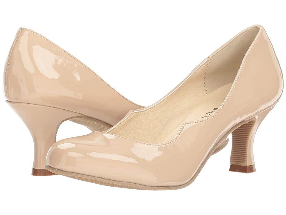 Image of Amiana 15-A5477 (Little Kid/Big Kid/Adult) (Nude Patent PU) Girl's Shoes