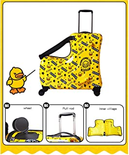 Suitcase Small Yellow Duck Riding Children Trolley Case Luggage Universal Wheel Travel Bags 20 Inch 24 Inch 24 inches