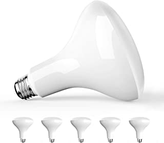 Amico 6 Pack BR40 LED Bulb 13W=85W, 5000K Daylight, 1050 LM, E26 Base, Dimmable, Indoor Flood Light for Cans - UL