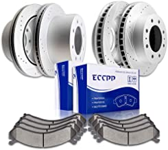 Brake Pads Rotors Kits, ECCPP Front Rear Brakes and Rotors fit for 01-06 for Chevy Silverado 3500, 07-10 for Chevy Silvera...
