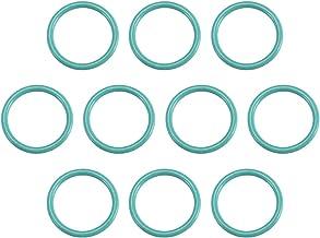 sourcingmap Anillo O Obturador Resistente a Calor Sellado de Caucho Verde 30 Piezas 10mm X 1,5mm