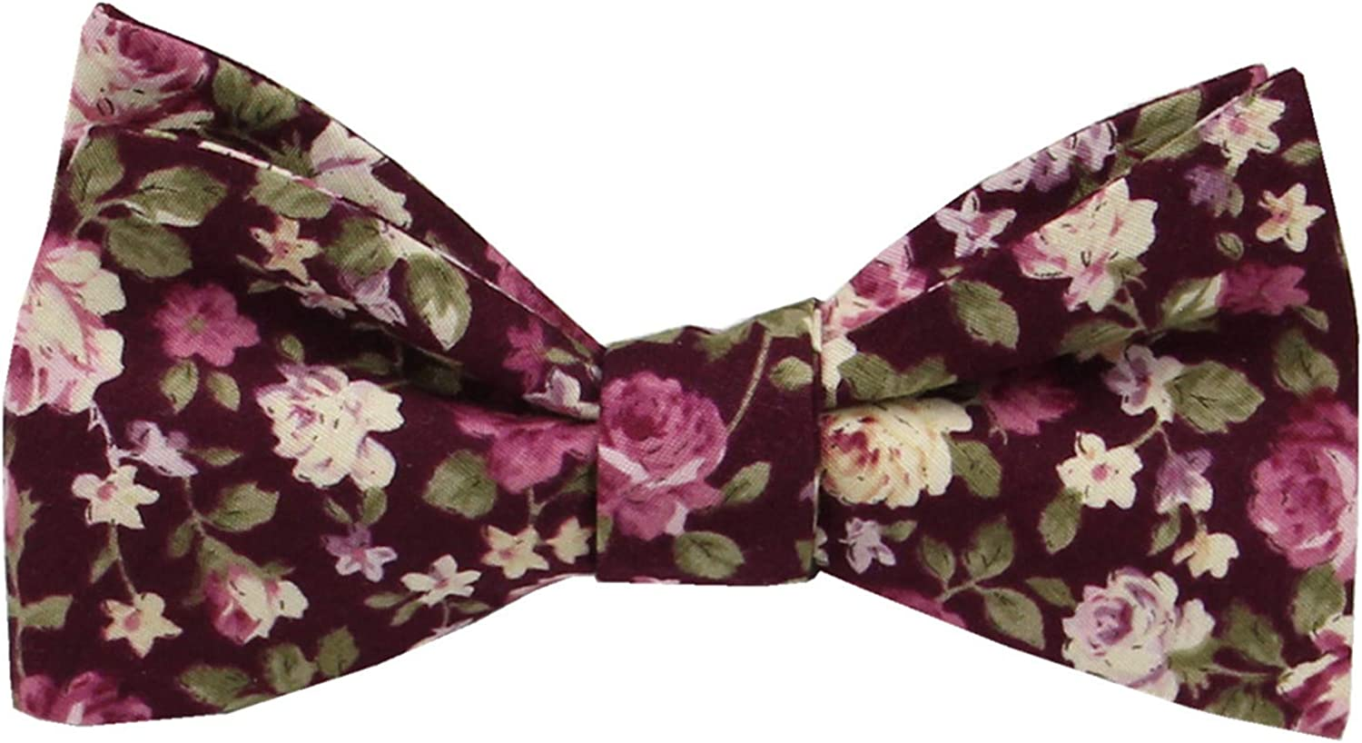 Mail order cheap Mens Floral Self Tie Bowties Arlington Mall - Ties 100% Bow Cotton Butterfly