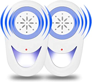 Antonki 2 Pack Mouse Repeller, Pest Repellent for All Pests & Rodent, Ultrasonic Effective & Safe to Pet & Human, Anti Ra...