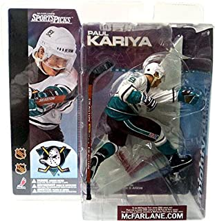 McFarlane Toys NHL Anaheim Mighty Ducks Sports Picks Series 1 Paul Kariya Action Figure [White Jersey Variant]