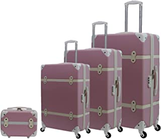 Trolley Travel Bags by Morano set of 4 bags 6688 - Pink
