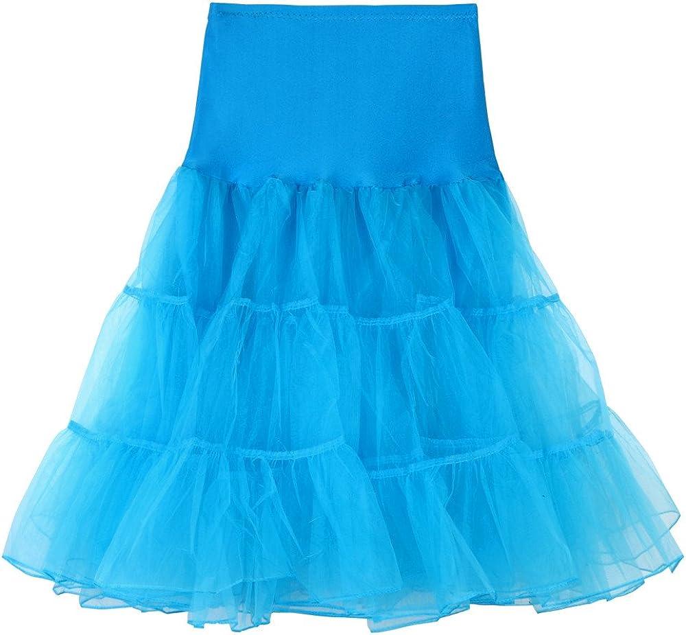 TUSANG Womens Casual High Waist Pleated Short Skirt Adult Tutu Dancing Skirt Sky Blue