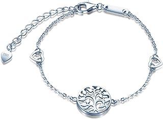 01ae2befdb25 Amazon.es: pulsera arbol de la vida - Plata / Mujer: Joyería