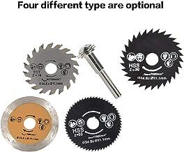 HSS Circular Saw Blade Rotary Tool 54.8mm Mini discos de corte de madera Hojas con mandril de taladro para cortador de metal - Oro