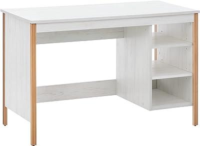 COMIFORT Bureau d'ordinateur – Bureau avec 3 trous ouverts pour le stockage, conçu en Espagne avec finition en mélamine, bureau pour jeunes – Fermeture Nordic