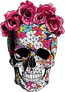 ARTEM 10.2X7.1inch Mosaics Rose Skeleton Sticker Thermal Transfer Patches for Clothes Patch DIY T-Shirt Hoodies and Denim Jacket