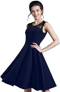 Elegant Ladylike Stylish Lace Charming O Neck Sleeveless Vintage Ball Gown Dress