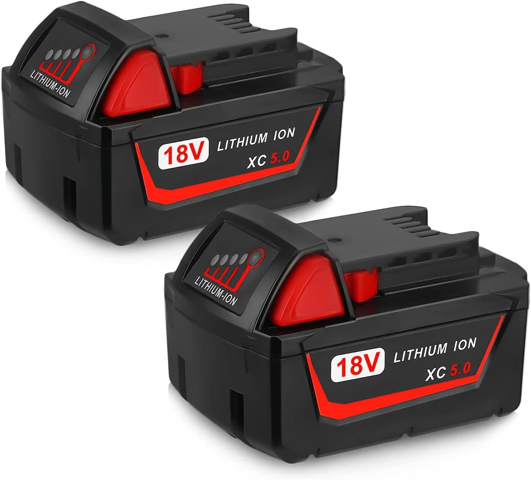 2Pack 5000mAh 18V Max Max 66% OFF 78% OFF Li-ion M-18 Milwaukee Battery Replace for