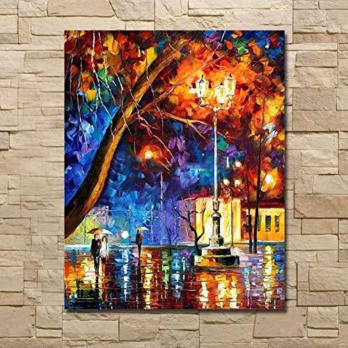 LEPOTN Venta al por Mayor para la Venta Diseño del Paisaje Pintura Decoración del hogar Arte de la Pared Pintura Pintado a Mano Lienzo Imágenes-36 x60(90X150CM) Sin Marco