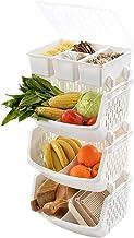 Stojak do przechowywania owoców i warzyw Podłoga do przechowywania w kuchni Wielowarstwowe plastikowe naczynia do przechow...