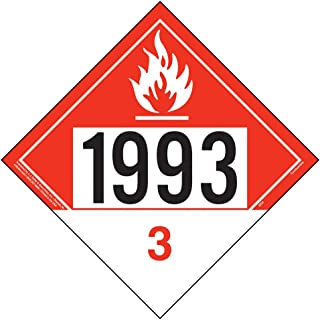 1993 Placard, Class 3 Combustible Liquid - 10.75