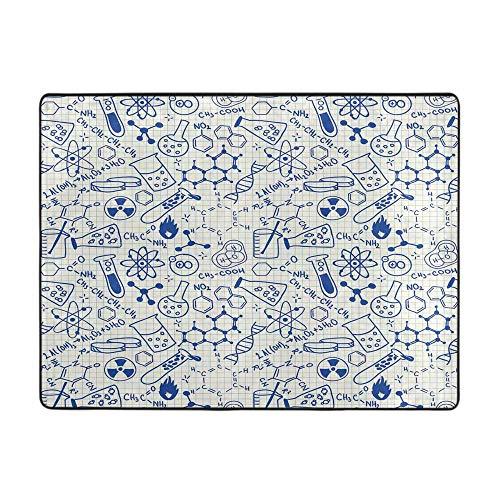 Soft Area Rugs for Bedroom Girls Room Living Room Kids Decor Desk Chair mat for Carpet Royal Blue Teal 2'x3'
