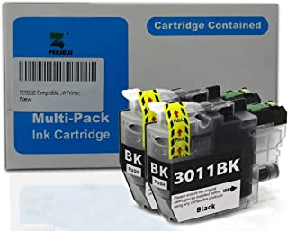 PERSEUS Compatible Ink Cartridge Replacement for Brother LC3011BK Black, Works with MFC-J491DW, MFC-J497DW, MFC-J690DW, MFC-J895DW Printer, LC3011 BK (Pack of 2)