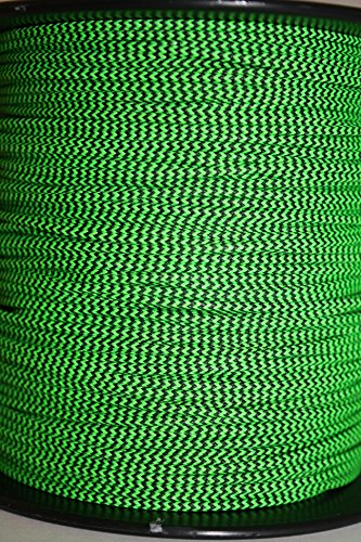 60X Custom Strings Flo Green & Black Speckled BCY #24 D Loop Rope Release Material 10'