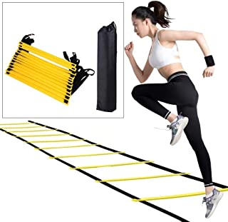 nobrand Adjustable Outdoor Soccer Football Training Ladder 6M Football Fitness Boxing Exercise Tool with Carry Bag for hig...