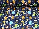 Nano Softshell Fiete von Swafing, Piraten, blau (Meterware