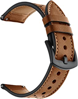 Elehome Quick Release Leather Watch Band, Genuine Leather Replacement Watch Strap with Stainless Metal Buckle Clasp 18mm, 20mm, 22mm