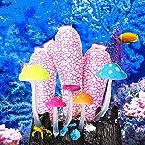 banapoy Decoración de paisajismo de Acuario, 4.72X3.74X2.56 Pulgadas Rosa Blanco Gel de sílice Emulación Decoración de paisajismo, Decoración(Pink)