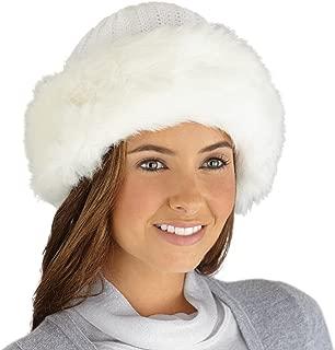 Etc Faux Fur Trimmed Winter Fashion Hat Chocolate