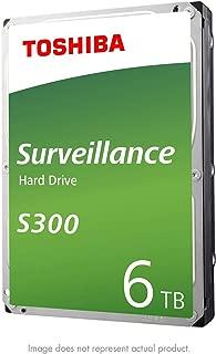 """Toshiba S300 6TB Surveillance 3.5"""" Internal Hard Drive – SATA 6 Gb/s 7200 RPM 256MB Cache (HDWT360UZSVAR)"""